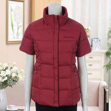 中年妇88冬装羽绒棉1n外套中老年秋装短袖马甲女装妈妈装上衣