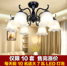吊灯简8q温馨卧室灯b8欧大气客厅灯铁艺餐厅灯具新式美式吸顶
