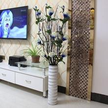 饰品花91花瓶摆件客tr插花叶脉仿真花干枝装饰花落地摆放花卉