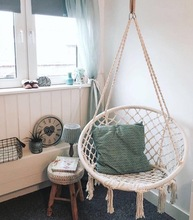 ins92欧风网红抖tt秋千编织吊椅吊篮 客厅室内家用宝宝房装饰