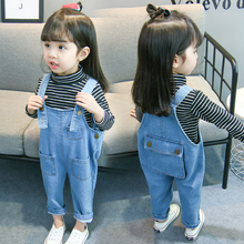 [99phar]女童背带裤儿童牛仔裤子2