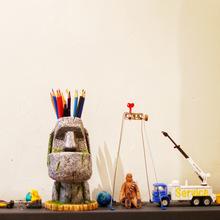 一个创9j 送朋友新jw立体复古工艺收纳摆件 复活岛石的像笔筒
