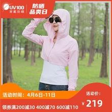 UV1aa0骑车短式ah女夏季长袖防紫外线薄式透气外套防晒服61054