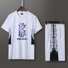 新式短袖篮球服套装男欧文科比篮aa12衣比赛ah性定制印字