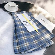 格子百aa裙女春夏高ah(小)短裙2021新式韩款学生显瘦a字半身裙裤