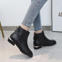 婚鞋红aa女2021ah式单式马丁靴平底低跟女短靴时尚短靴女靴