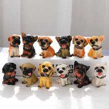 十二只ab真(小)狗摆件et脂狗模型动物装饰品创意工艺品生日礼物