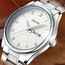 防水男ab士夜光大表et年的电子钢带学生情侣石英手表