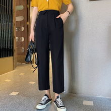 蓝语大码女装胖妹妹ab6m垂感直et套装夏装新式上衣显瘦九分裤