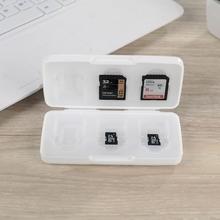 日本进口内存sad4卡收纳盒m4卡盒CFXD TF SIM卡手机卡保护盒