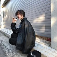 JHXad 黑色pums显瘦2020春秋新式学生韩款bf风宽松夹克外套潮