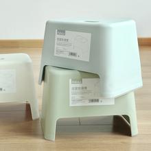 日本简ad塑料(小)凳子lo凳餐凳坐凳换鞋凳浴室防滑凳子洗手凳子