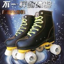 好看的ae女式便携初ob鞋白色旱冰鞋女成年。滑轮鞋休闲