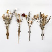 丹麦北欧风简约铁艺墙壁墙af9插花筒花ic打孔魔术贴装饰艺术
