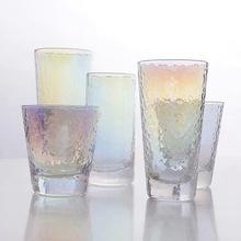 日式创af炫彩锤目纹nc水杯茶杯酒杯冷饮牛奶果汁饮料杯子套装