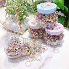 新款发绳盒装(小)皮筋净af7皮套彩色ri细圈刘海发饰儿童头绳