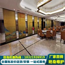 酒店移ag隔断墙宴会es可活动隔断办公室展厅推拉包间折叠屏风