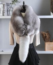 狐狸围脖整只真毛领子ag7张狐狸皮es男女通用围巾披肩包邮
