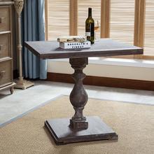 全实木ai桌复古咖啡di桌4的美式方桌办公桌洽谈桌书桌现货