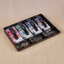 有盖密ai收钱(小)型硬an箱店铺超市收银盒生意放纸钱箱简约