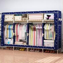 宿舍拼ai简单家用出ik孩清新简易布衣柜单的隔层少女房间卧室