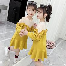 7女大ai8秋冬装1ta连衣裙加绒2020宝宝公主裙12(小)学生女孩15岁