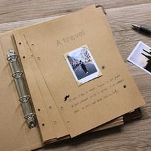 A4牛皮纸相册本ai5iy手工pr册礼物创意情侣拍立得粘贴款影集