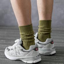 袜子男ai冬韩款纯棉wu色防臭长袜复古工装裤袜百搭韩国中筒袜