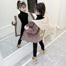 童装女ai外套毛呢秋le020新式韩款洋气冬季加绒加厚呢子大衣潮
