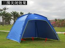 防紫外al超大户外钓ho遮阳棚烧烤棚沙滩天幕帐篷多的防晒防雨