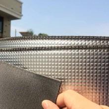 保温阻al隔音单面铝ja射膜屋顶房顶阳光房临时房隔热防晒膜