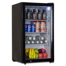 冷藏保al展示柜(小)型xa8升单侧开门立式冰箱透明玻璃门