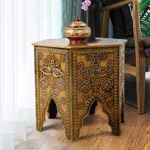 异丽东al亚风格客厅xa沙发边几圆桌泰国阳台桌子创意简约茶桌