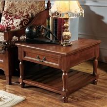美式实木边几欧式沙发边桌