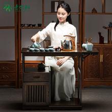 移动泡al车家用现代li几多功能功夫套装茶桌(小)户型新中式茶台