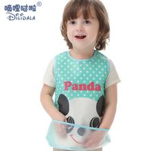 幼儿园al宝罩衣围兜nw水(小)孩吃饭宝宝婴儿围嘴食饭兜仿硅胶