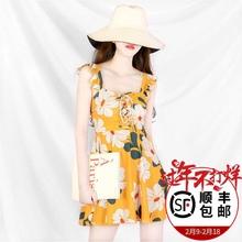 韩国ials新式20ha红式仙女范泡温泉保守遮肚显瘦学生女