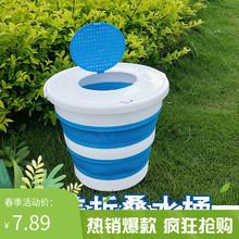 便携式al盖户外家用ha车桶包邮加厚桶装鱼桶钓鱼打水桶