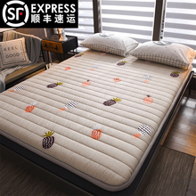 全棉粗al加厚打地铺ar用防滑地铺睡垫可折叠单双的榻榻米