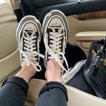 [amaes]网红同款帆布板鞋女202
