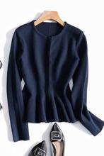 大师作品高贵气质am5士短外套es2020新款针织衫上衣修身显瘦
