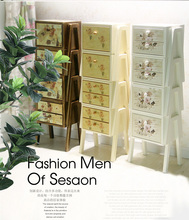 斗柜实am柜子整装收gi园客厅简约现代储物柜欧式创意自由组合