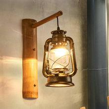 复古马am壁灯仿古茶zi民宿装饰火锅店创意个性竹艺壁灯