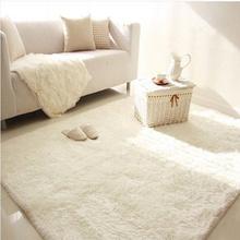 北欧家am白色客厅茶ri主播卧室满铺床边毯衣帽间垫飘窗毯定制