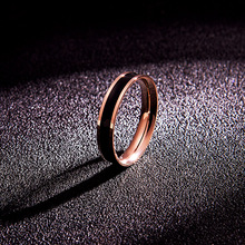 韩京日am时尚气质钛ma瑰金情侣食指戒指男女式指环手饰品
