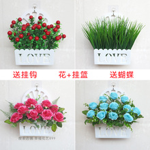 挂墙假am壁挂装饰(小)ns面love挂件仿真塑料花篮客厅墙壁室内花
