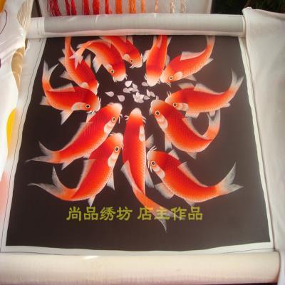 苏绣DIY套件初学针迹年年有am11鱼45it成品参考礼品刺绣画
