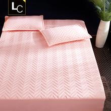 床笠单an加厚夹棉床ea套席梦思保护套棕垫防滑1.8m1.5米床单