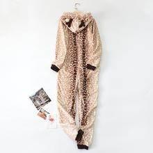 (小)鹿卡an动漫连体睡re瑚绒动物可爱春秋冬季成年男加绒加厚