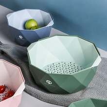 北欧风an创意insin用厨房双层洗菜盆沥水篮洗水果篮子